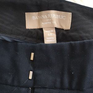 Banana republic navy Martin fit pant